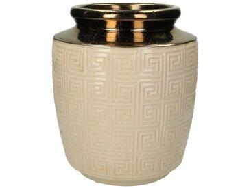 Engelnburg Dekovase » Vase Blumenvase Steinzeug Weiß 25,5x22,«