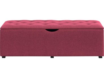 """Places of Style Hockerbank »Knobbed«, Hockerbank mit Stauraum, Breite 120 cm und 160 cm, rosa, Für Bett """"Nordica"""", pink"""