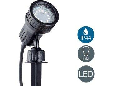 B.K.Licht LED Gartenstrahler, 1-flammig, LED Erdspieß für den Garten GU10