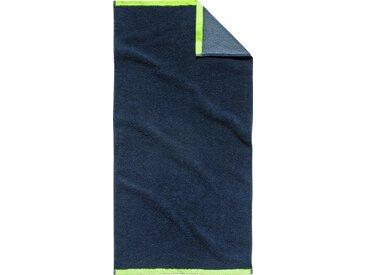 TOM TAILOR Handtücher »Doubleface« (2-St), mit Rand in Neonfarbe, blau, navy