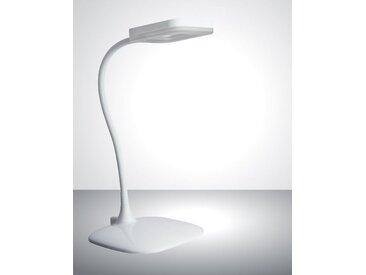 TRANGO LED Schreibtischlampe, 7491-016 LED Tischlampe in Weiß *LOPY* inkl. 1x 6 Watt LED Modul 3000K warmweiß & 3 Stufen Touch dimmbar Tischleuchte, Nachttischlampe