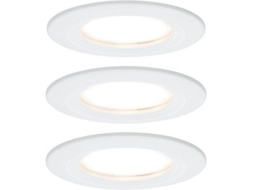 Paulmann LED Einbaustrahler »3er-Set Coin Slim IP44 rund 6,8W Weiß«