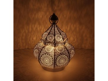 Casa Moro Bodenwindlicht »Orientalische Laterne aus Metall Anida gold 30cm, Marokkanisches Windlicht Gartenlaterne, hängend oder stehend