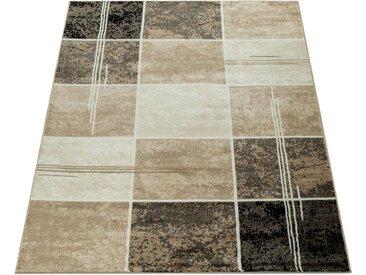 Paco Home Teppich »Sinai 057«, rechteckig, Höhe 9 mm, karierter Kurzflor, braun, braun