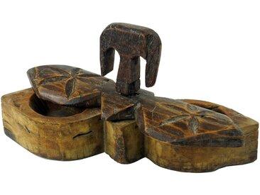 Guru-Shop Aufbewahrungsdose »Antike Holzaufbewahrung, Holzschatulle, Holzbox..«