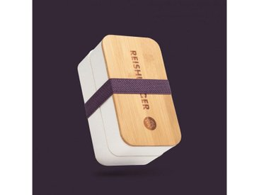 Reishunger Aufbewahrungsdose »Nachhaltige Bento Box - Lunchbox aus Weizenstroh und BPA-freiem Kunststoff mit 2 Behältern, Gabel, Löffel, Messer, Gurt und Deckel«, Nachhaltig