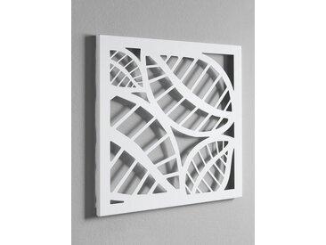 heine home Wandgarderobe und Memoboard, weiß, ca. 40/40/2 cm, ca. 42/42/2 cm, weiß