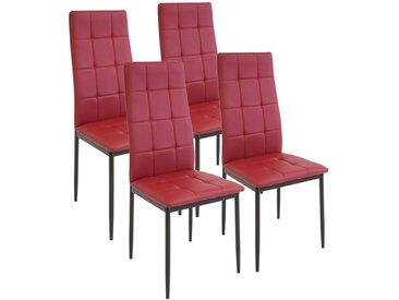 Albatros Esszimmerstuhl » Esszimmerstühle RIMINI«, rot, 4-er SET, Rot