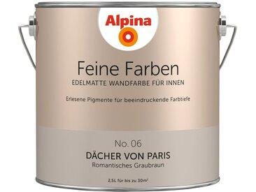 Alpina ALPINA Farbe » Feine Farben Dächer von Paris«, 2,5 l, braun, Romantisches Graubraun