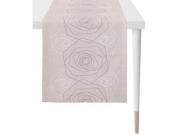 APELT Tischläufer »7201 LOFT STYLE« (1-tlg), Jacquardgewebe, rosa, altrosa-taupe-naturweiß