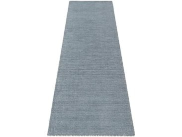 Theko Exklusiv Läufer »Gabbeh uni«, rechteckig, Höhe 15 mm, grau, grau