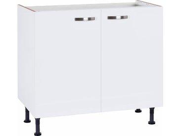 Spülenschrank »Cara« Breite 90 cm, weiß, weiß/weiß