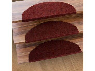 Kubus Stufenmatte »Denver«, Halbrund, Höhe 4.4 mm, Günstiger Stufenschutz, rot, Rot