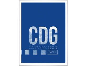 Wall-Art Poster »Wandbild CDG Flughafen Paris«, Flughafen (1 Stück), Poster, Wandbild, Bild, Wandposter