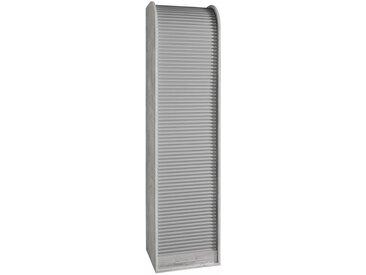 Rollladenschrank »777/1RL« mit optimaler Tiefe für Ordner, grau, betonfb./silberfb.