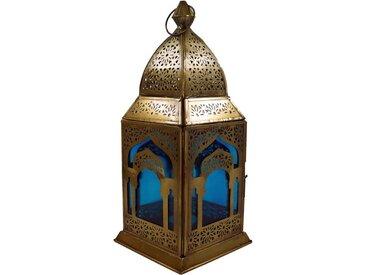 Guru-Shop Laterne »Orientalische Metall/Glas Laterne in..«, türkis-mehrfarbig