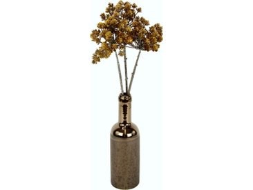 I.GE.A. Kunstzweig »Blütenzweig« Blütenzweig, Höhe 55 cm, in Vase, goldfarben, goldfarben