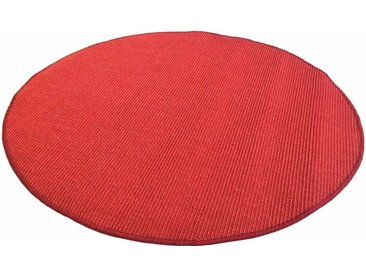 Living Line Sisalteppich »Trumpf«, rund, Höhe 6 mm, Obermaterial: 100% Sisal, rot, rot