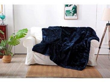 Star Home Textil Wohndecke »Zobel«, aus besonders weichem Webpelz, blau, blau