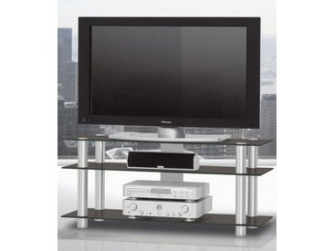 SPECTRAL TV-Rack »just-racks TV1203«, Breite 120 cm, schwarz, Schwarzglas