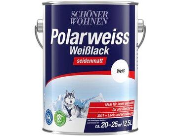 SCHÖNER WOHNEN-Kollektion SCHÖNER WOHNEN FARBE Lack »Polarweiss Weisslack«, seidenmatt, 2500 ml, weiß, weiß, Inhalt: 2,5 l, weiß