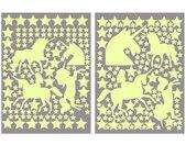 Wall-Art Wandtattoo »Leuchtsterne Einhörner Set« (1 Stück), bunt