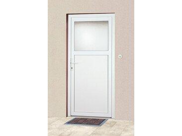 KM Zaun KM MEETH ZAUN GMBH Mehrzweck-Haustür »K601P«, BxH: 108 x 208 cm, weiß, in 2 Varianten, weiß, links, weiß