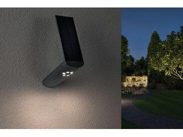 Paulmann LED Solarleuchte »Outdoor Solar Wandleuchte Ilias IP44, 3000K warmweiß, 1,2W, 100lm, Alugrau mit Bewegungsmelder«