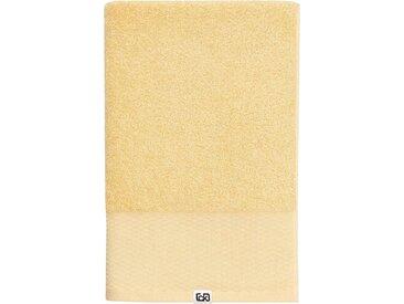 Calvin Klein home Waschlappen »Riverstone« (3-tlg), aus Bio Baumwolle, goldfarben, sunflower