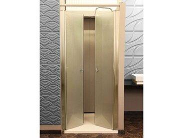 HOME DELUXE Pendeltür »Lavea«, BxH: 70 x 195 cm, Milchglas, silberfarben, beidseitig montierbar, alufarben