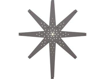 "STAR TRADING LED Stern »Holzstern ""Tall"" - hängend - 8-zackig - Ø 60cm, H: 70cm - inkl. Kabel - grau«"
