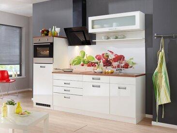HELD MÖBEL Küchenzeile »Fulda«, mit E-Geräten, Breite 240 cm, weiß, weiß