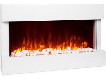 Klarstein Elektrischer Kamin 1000/2000W LED 10-30 °C Wochentimer »Studio-1«, weiß, Weiß