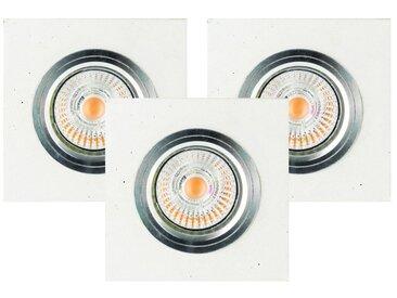 SPOT Light Deckenstrahler »Vitar«, 3-flammig, 3er Set Einbauleuchte, Inklusive austauschbare LED-Leuchtmittel, Betonelemente handgefertigt