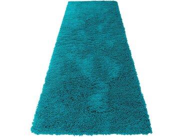 Home affaire Hochflor-Läufer »Viva«, rechteckig, Höhe 45 mm, gewebt, blau, türkis