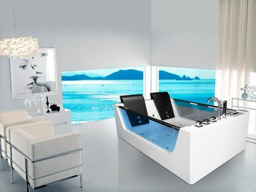 HOME DELUXE Whirlpoolwanne »Cadiz XL«, B/T/H in cm: 180/120/60, 180 cm