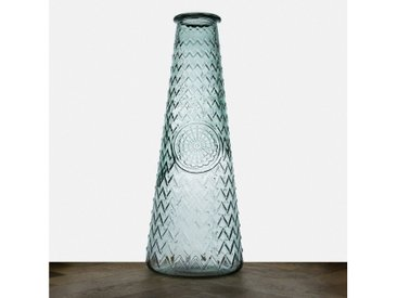 "the way up Bodenvase »THE WAY UP Mandala-Bodenvase XL ""Marta"" 55,5 cm aus Recycling-Glas. 100 % Altglas. Nachhaltig.«"