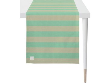APELT Tischläufer »3967 Outdoor« (1-tlg), Jacquardgewebe, grün, mint-sand