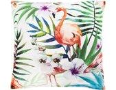 Andiamo Dekokissen »Nairobi«, Zierkissen, eckig, 40x40 cm, inkl. Kissenfüllung, In- und Outdoor geeignet, Wohnzimmer, bunt, Flamingos, multi-flamingo
