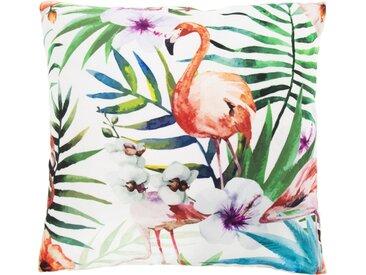 Andiamo Dekokissen »Nairobi«, eckig, 40x40 cm, inkl. Kissenfüllung, In- und Outdoor geeignet, bunt, Flamingos, multi-flamingo
