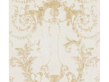A.S. Création Vliestapete »History of Art«, Barock, mit Ornamenten, goldfarben, creme-gold