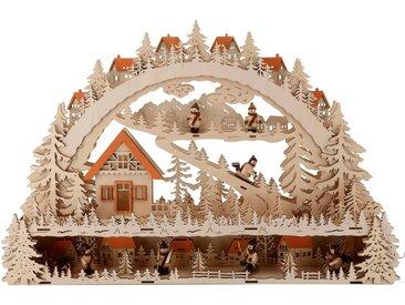 Schwibbogen »LED Winterlandschaft mit Podest«, Breite 64 cm