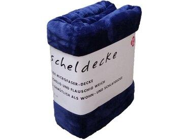 grace grand spa Plaid, mit Polyester-Mikrofaser, blau, blau
