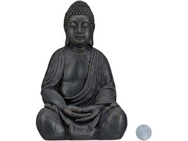 relaxdays Buddhafigur »Buddha Figur 50 cm«, grau, Dunkelgrau