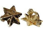 Liedeco Dekoklammer »Orbit«, Gardinen, Vorhänge, (Packung, 2-St), für Gardinen, Vorhänge, goldfarben, messingfarben