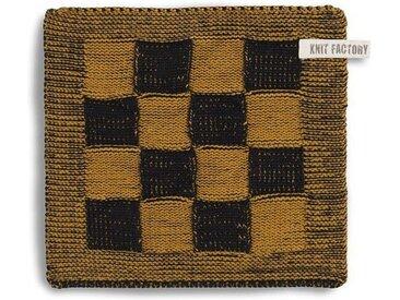 Knit Factory Tischdecke »Topflappen Block Schwarz/Ocker«