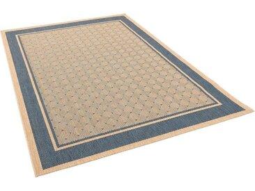 Pergamon Designteppich »Modern Flachgewebe Ruggy Karo Bordüre«, Rechteckig, Höhe 4 mm