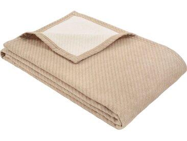 IBENA Wolldecke »Baumwoll-Tencel Decke Tennessee«, schlicht, braun, braun