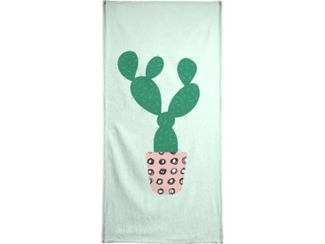 Juniqe Handtuch »Cactus« (1-St), Weiche Frottee-Veloursqualität