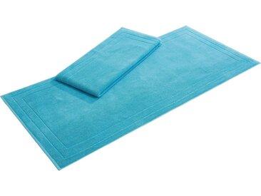 my home Badematte »Niki« , Höhe 6 mm, beidseitig nutzbar, 2er Set, blau, türkis